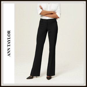Ann Taylor LOFT Julie Straight Black Pants Slacks